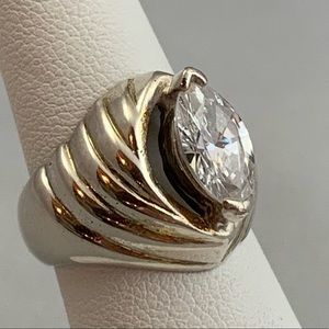 Jewelry - Sterling & CZ Solitaire Ring